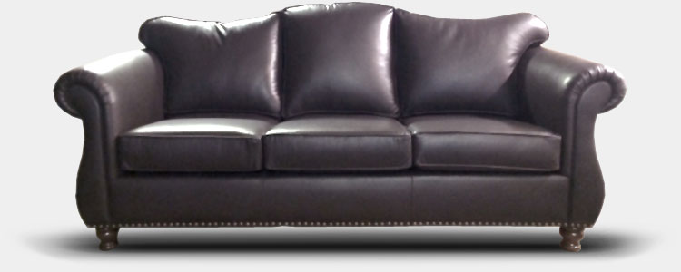 LEather Upholstered Couch